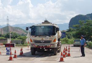 Áp lực từ trạm cân trọng tải xe di động