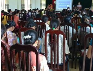 Các học viên tham gia tại lớp tập huấn.