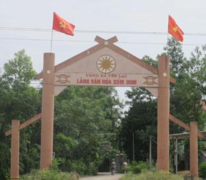 Phong trào Toàn dân đoàn kết xây dựng đời sống văn hóa phát triển sâu rộng, huyện Yên Thủy ngày càng có thêm nhiều những cổng làng ghi danh hiệu: Làng Văn hóa.