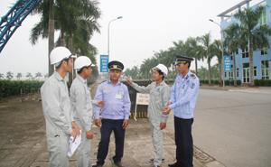 Lực lượng bảo vệ  KCN Lương Sơn  trực 24/24h  đảm bảo ANTT trên địa bàn.