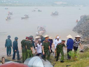 Các lực lượng tham gia diễn tập xử lý tình huống cứu hộ cứu nạn.