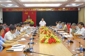 BTV Tỉnh ủy cho ý kiến về các văn kiện trình tại Đại hội Đảng bộ tỉnh lần thứ XVI