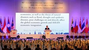 Thủ tướng Lào Thoong-lun Xi-xu-lít tại Lễ khai mạc AEM 48 ngày 3-8-2016.