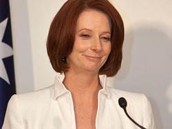 Thủ tướng Úc Julia Gillard tại cuộc họp báo ở Hạ viện ngày 7-9
