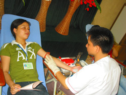 ĐVTN là lực lượng nòng cốt của phong trào hiến máu nhân đạo
