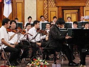 Thí sinh Lưu Hồng Quang tại vòng chung kết bảng C.