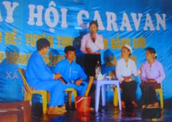 Một tiểu phẩm truyền thông trong đêm hội canaval huyện Tân Lạc