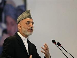Tổng thống Afghanistan Hamid Karzai.