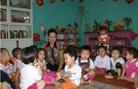 Chăm lo cho sự phát triển của trẻ là mong ước lớn của tôi trong nghề sư phạm – cô giáo Quản Mai Thanh tâm sự.