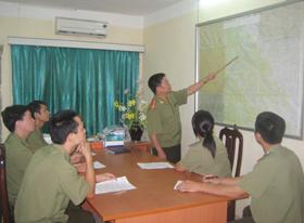 CBCS Phòng PA61 - Công an tỉnh họp bàn triển khai nhiệm vụ bảo vệ an ninh chính trị cho Đại hội Đảng bộ tỉnh.