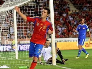 Villa lập cú đúp giúp Tây Ban Nha giành vé (Nguồn: Getty)