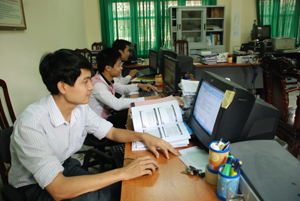 Cục Thuế tỉnh ứng dụng CNTT trong công tác quản lý thuế.