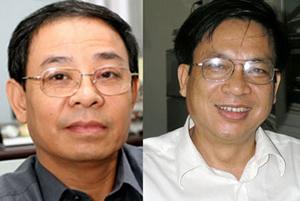 Ông Lại Văn Sinh- Cục trưởng Cục Điện ảnh VN (trái) và ông Lê Ngọc Minh - Phó Cục trưởng Cục Điện ảnh.