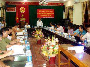 Đồng chí Trần Đăng Ninh, Phóc Chủ tịch UBND tỉnh kết luận hội nghị.