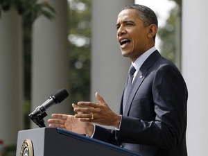 Tổng thống Mỹ Obama phát biểu tại Vườn Hồng, Nhà Trắng, ngày 19/9.