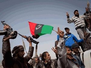 Lực lượng nổi dậy ở Libya.