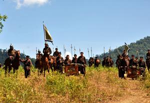 Một cảnh trong phim Khát vọng Thăng Long.