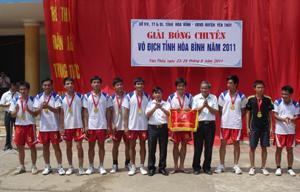 Đội bóng chuyền nam phong trào huyện Yên Thủy giành được giải nhất tại giải vô địch bóng chuyền tỉnh năm 2011.