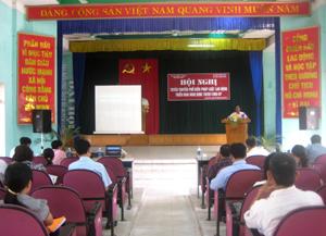 Tham dự hội nghị có đại diện hơn 40 doanh nghiệp trên địa bàn huyện Lương Sơn.