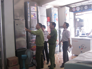 Đoàn thanh, kiểm tra sự phù hợp của sản phẩm hàng hóa với tiêu chuẩn công bố áp dụng tại cơ sở kinh doanh điện tử - điện lạnh huyện Lạc Thủy.