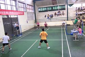 Trận chung kết môn cầu lông đôi nam dưới 36 tuổi.