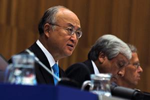 Tổng Giám đốc Yukiya Amano phát biểu tại cuộc họp Ban giám đốc IAEA.