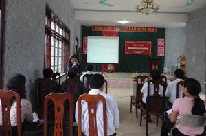Hội nghị triển khai mô hình làng văn hóa sức khỏe.