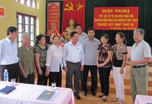 Đoàn ĐBQH tỉnh gặp gỡ tiếp xúc với đại biểu cử tri thành phố Hòa Bình.