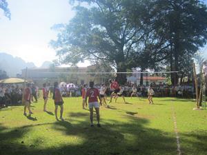 Giải bóng chuyền vô địch huyện năm 2013 thu hút 100% xã, thị trấn tham gia.
