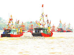 Hội quân trên sông Lục Đầu, điểm nhấn của Lễ hội mùa thu Côn Sơn -Kiếp Bạc.