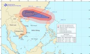 Đường đi của cơn bão. Nguồn: nchmf.gov.vn