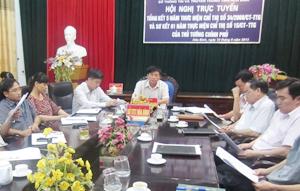 Các đại biểu tỉnh ta tham dự hội nghị.