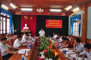Đoàn công tác khảo sát thực hiện công tác quản lý Nhà nước về việc đầu tư hệ thống TT-TH tại huyện Đà Bắc.