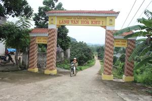 Cơ sở hạ tầng làng văn hoá khu I - thị trấn Cao Phong (Cao Phong) được đầu tư xây dựng tạo nên diện mạo mới.