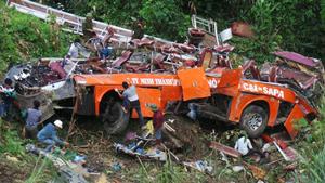 Vụ tai nạn thảm khốc ở Sa Pa (tỉnh Lào Cai) hôm 1/9 (ảnh: Quốc Cường)