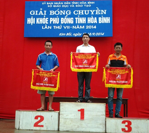 3 đội đoạt giải toàn đoàn khối các trường THPT tỉnh tại giải.