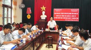 Đồng chí Nguyễn Văn Toàn, Trưởng Ban VH-XH&DT, Trưởng Ban Tuyên giáo Tỉnh uỷ phát biểu ý kiến tại buổi khảo sát.