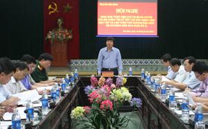 Đồng Chí Trần Đăng Ninh, Phó Bí thư Thường trực Tỉnh ủy phát biểu kết luận tại hội nghị.