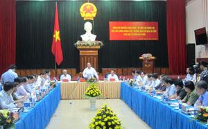 Đồng chí Nguyễn Xuân Phúc, Ủy viên Bộ Chính trị, Phó Thủ tướng Chính phủ, Trưởng Ban Chỉ đạo Tây Bắc phát biểu chỉ đạo tại  buổi làm việc.