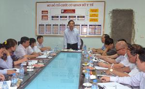 Đồng chí Hoàng Văn Tứ, Phó Chủ tịch HĐND tỉnh phát biểu kết luận tại buổi kiểm tra.
