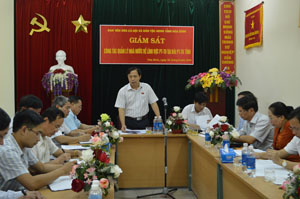 Đồng chí Nguyễn Văn Toàn, UVTV, Trưởng Ban Tuyên giáo Tỉnh ủy, Trưởng Ban VH-XH&DT phát biểu kết luận buổi giám sát.