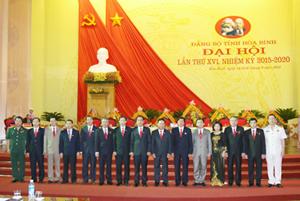Ban Thường vụ Tỉnh ủy khóa XVI, nhiệm kỳ 2015 - 2020 ra mắt Đại hội.